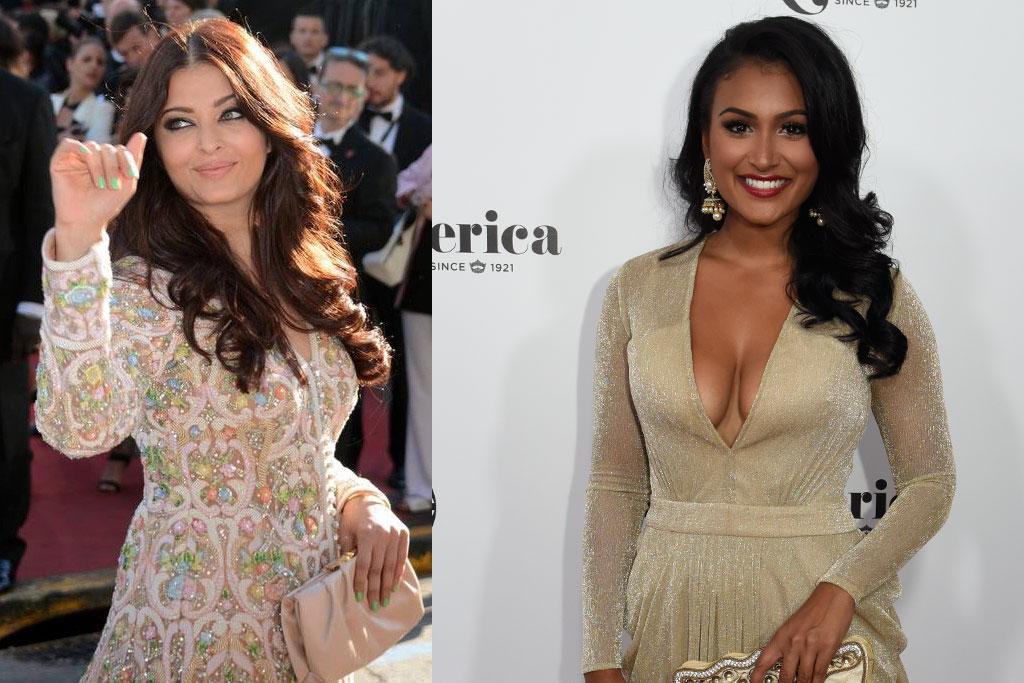 Left: TK. Right: Nina Davuluri, Miss America 2014
