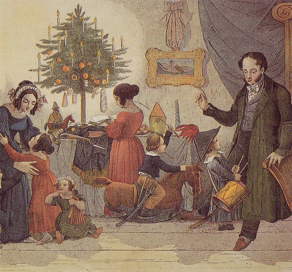 A family Christmas scene from 1814