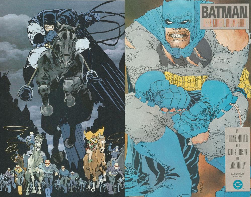Art from The Dark Knight Returns series