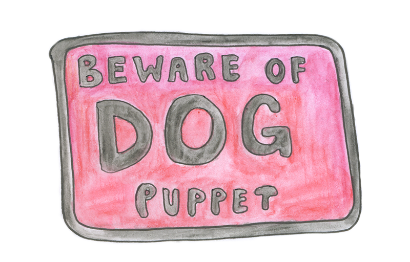 Beware of dog puppet