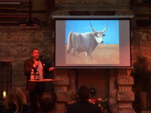 Jokuti presenting at Terroir Budapest