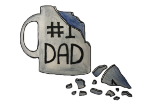 Dad mug smashed
