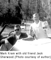 Mark Mram with old friend Jack Sherwood