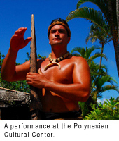 A performance at the polynesian cultural center